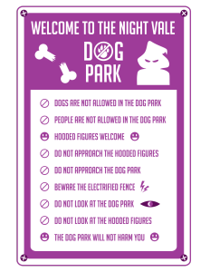 Night Vale Dog Park Rules